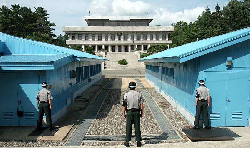 "The ""De-Militarized Zone"" dividing Korea"