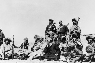 The Dalai Lama with CIA-trained guerrillas