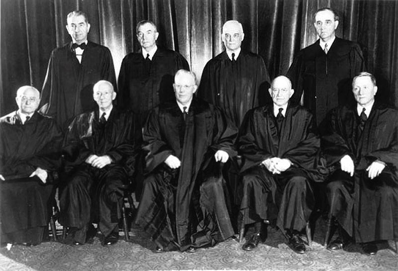 The Supreme Court in 1953. Source: Public Domain.