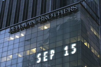 Lehman Brothers, the day the 158-year-old investment bank filed for bankruptcy.