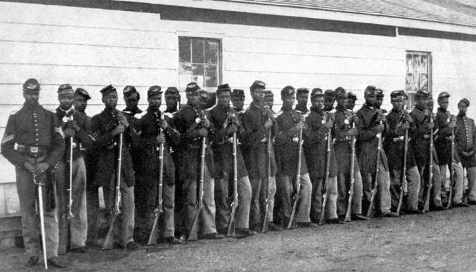 the focus of the movie glory on the 54th masachusetts regiment of black soldiers during civil war The soldiers of the 54th spent much of the remainder of the war protesting the united states government and a policy that paid black men $10 per month (as compared to white soldiers' $13) this discriminatory practice was briefly acknowledged in a scene in glory that depicted colonel shaw joining his men in protest by tearing up their pay.