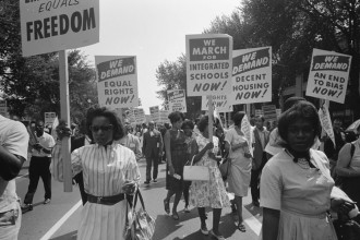 In addition to civil rights, marchers in 1963 demanded jobs, quality education and housing.