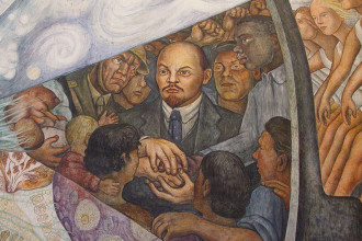 """From """"Man at the crossroads,"""" by Diego Rivera. Source: Wikimedia Commons."""