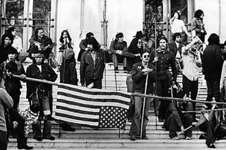 Native American activists occupy of the Bureau of Indian Affairs building in Washington, D.C., in 1972.