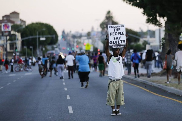 Protest for Trayvon Martin takes the streets in Los Angeles