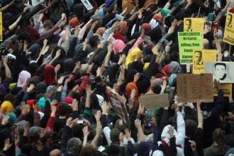 Mass rally for Trayvon Martin in NYC