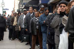 The capitalist economy breeds a reserve army of the unemployed.
