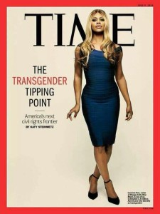 Laverne Cox on the cover of TIME in 2014.