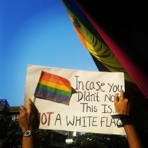 (09) This is not a white flag
