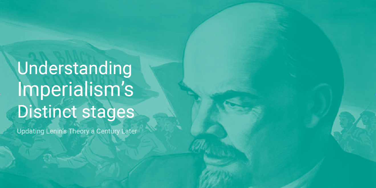 """Picture of Lenin, with the text """"Undersanding Imperialism's distinct stages"""""""