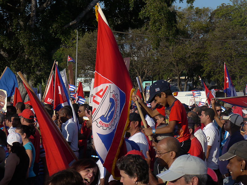 Part of a 2012 May Day celebration in Havana. Photo: Wikipedia Commons.