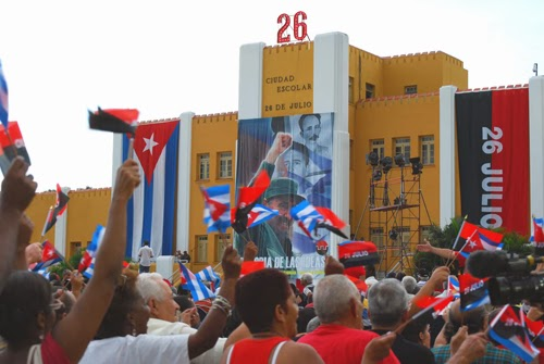 Santiago de Cuba, Cubans celebrate the anniversary of the attack on the Moncada Barracks that launched the Revolution.