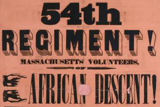 54th regiment recruitment poster