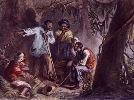 Oppression is coupled with resistance. Nat Turner was a leader in the slave rebellions.