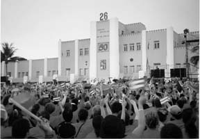 Celebration of the 50th anniversary of the launch of the Cuban revolution, the attack on the Moncada Barracks, Santiago de Cuba, July 26, 2003 Photo: Gloria La Riva