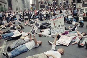Sept. 1989 civil disobedience at New York Stock Exchange