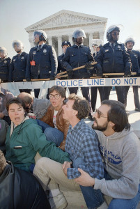 Hundreds protest at U.S. Supreme Court – Oct. 13, 1987