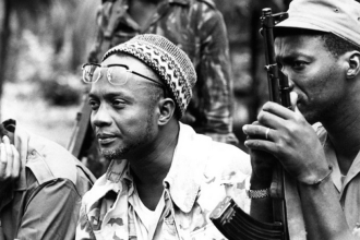 Amilcar Cabral (left)
