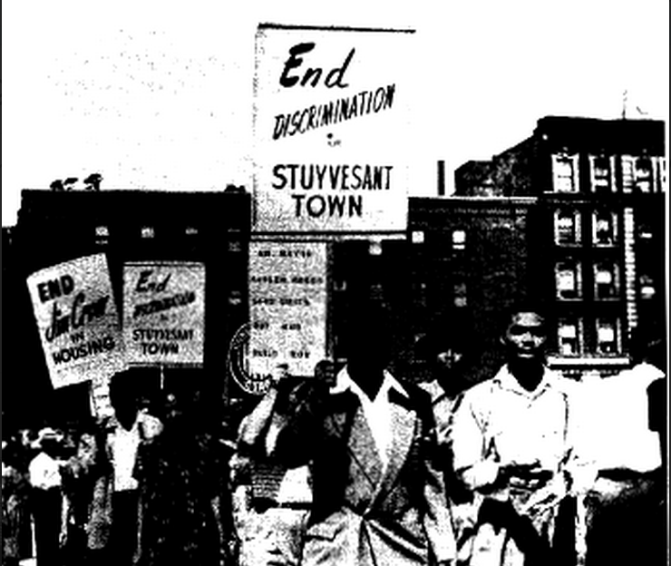 Protest against segregation in NYC