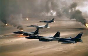 """US bombers """"liberate"""" Kuwait"""