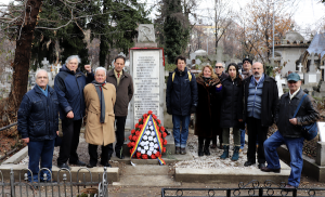 The author attended the centenary commemoration of the Typographers' Revolt in Bucharest, organized by the Partidul Socialist Român and the Partidul Comunitar din România. Both organizations also restored the memorial, which had fallen into disarray. Long live the workers' struggle! Photo: Liberation School.