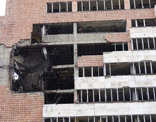 Jones - Building NATO bombed